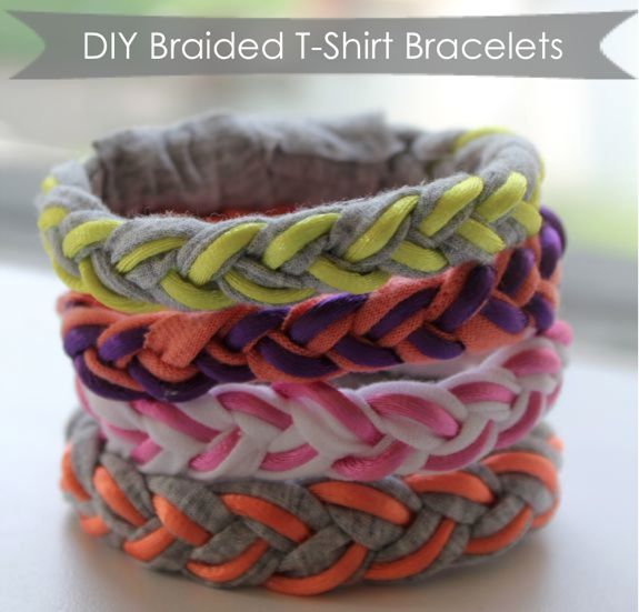 how to turn a tshirt into a bracelet