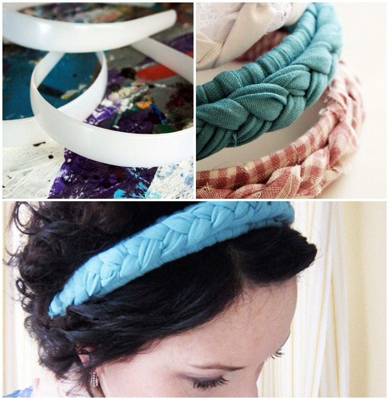 how to turn a tshirt into a braided headband