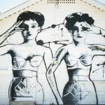 graffiti vintage ladies in underwear