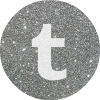 tumblr silver round social media icon
