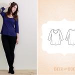 free tshirt sewing pattern deer and doe