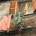 pretty clothes on a line