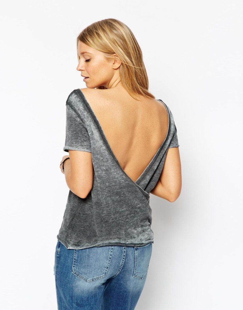 wrap back tshirt