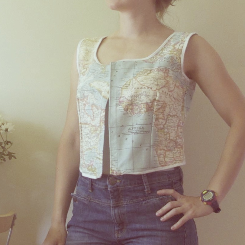adelaide world map vest top