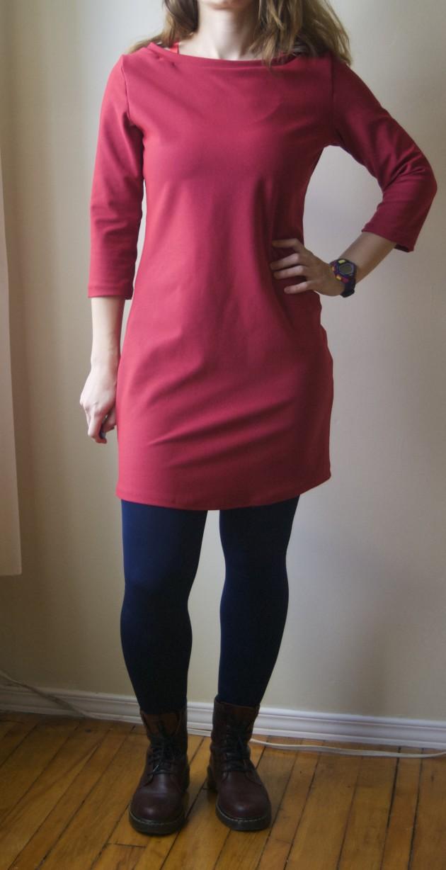 ponte knit mesa dress front
