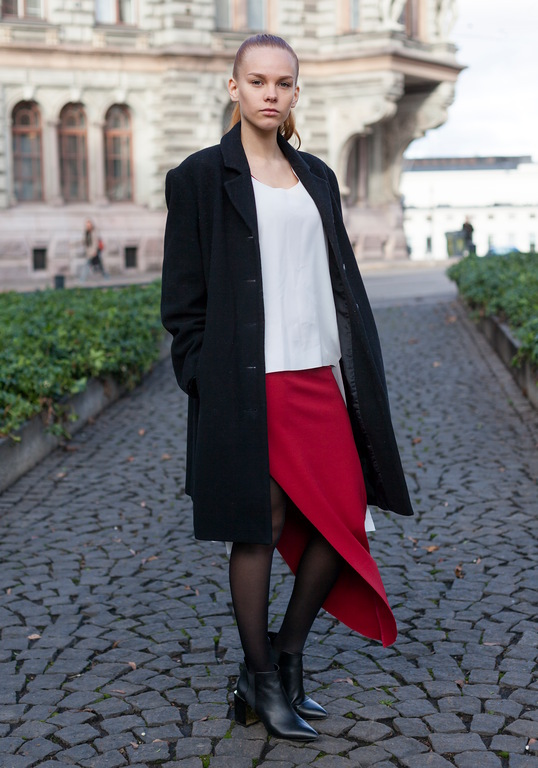 dramatic asymetrical knit skirt