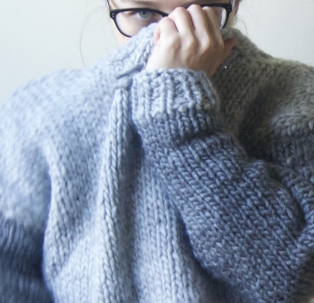 handmade bulky wool sweater