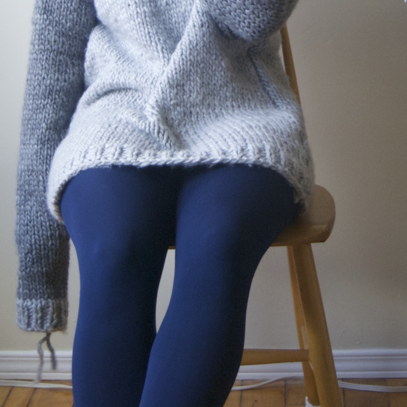 handmade wool sweater unfinished sleeve