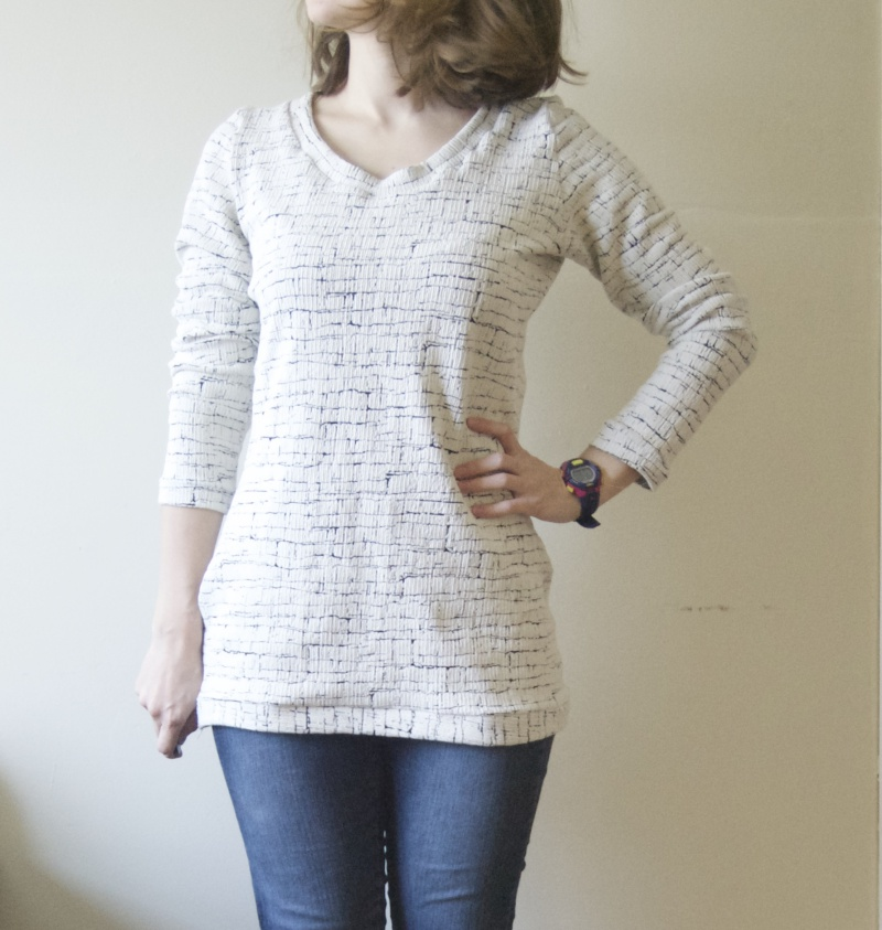 Thick knit long sleeve tunic (a Mesa pattern hack) - Sky Turtle Sewing Blog