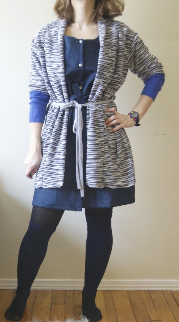 short_sleeved_longine_knit_cardigan