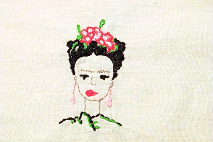 frida embroidery pattern free