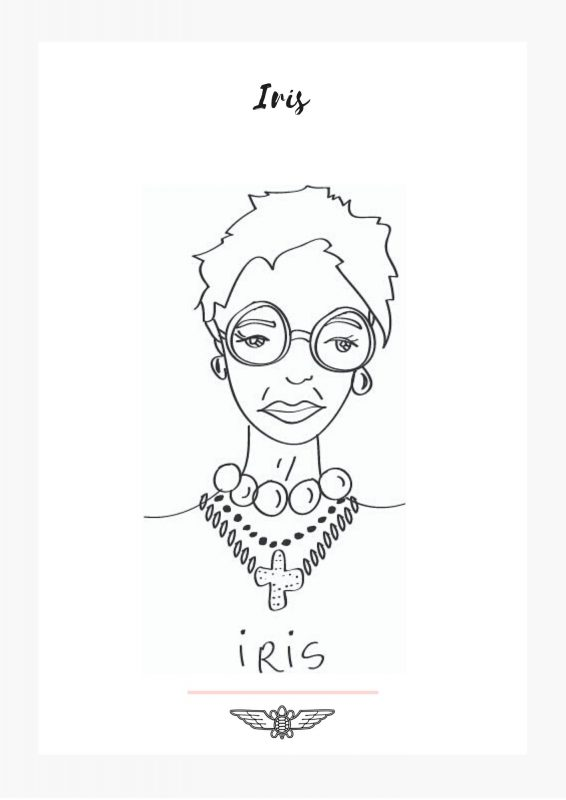iris embroidery pattern free