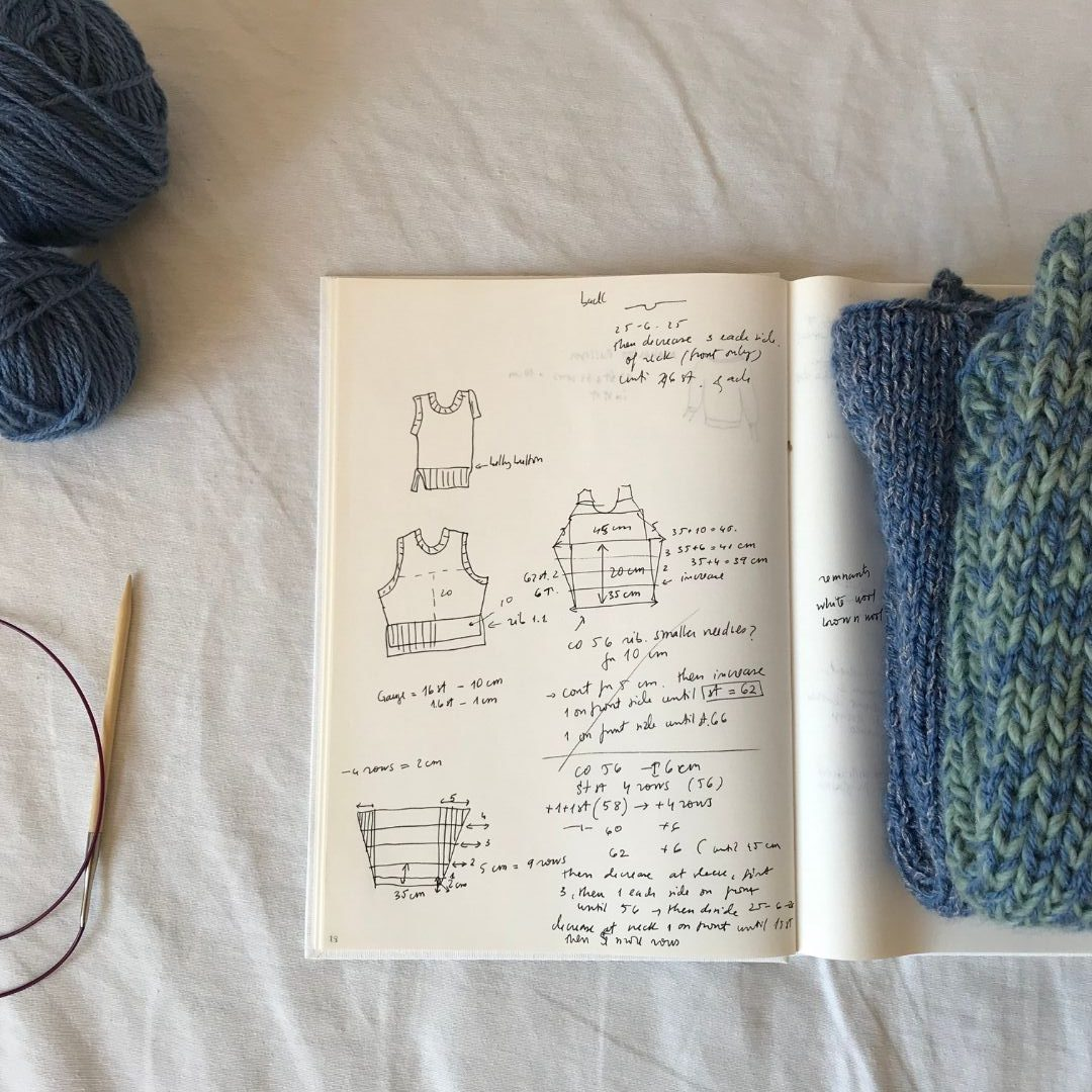 the process of making a knitted vest