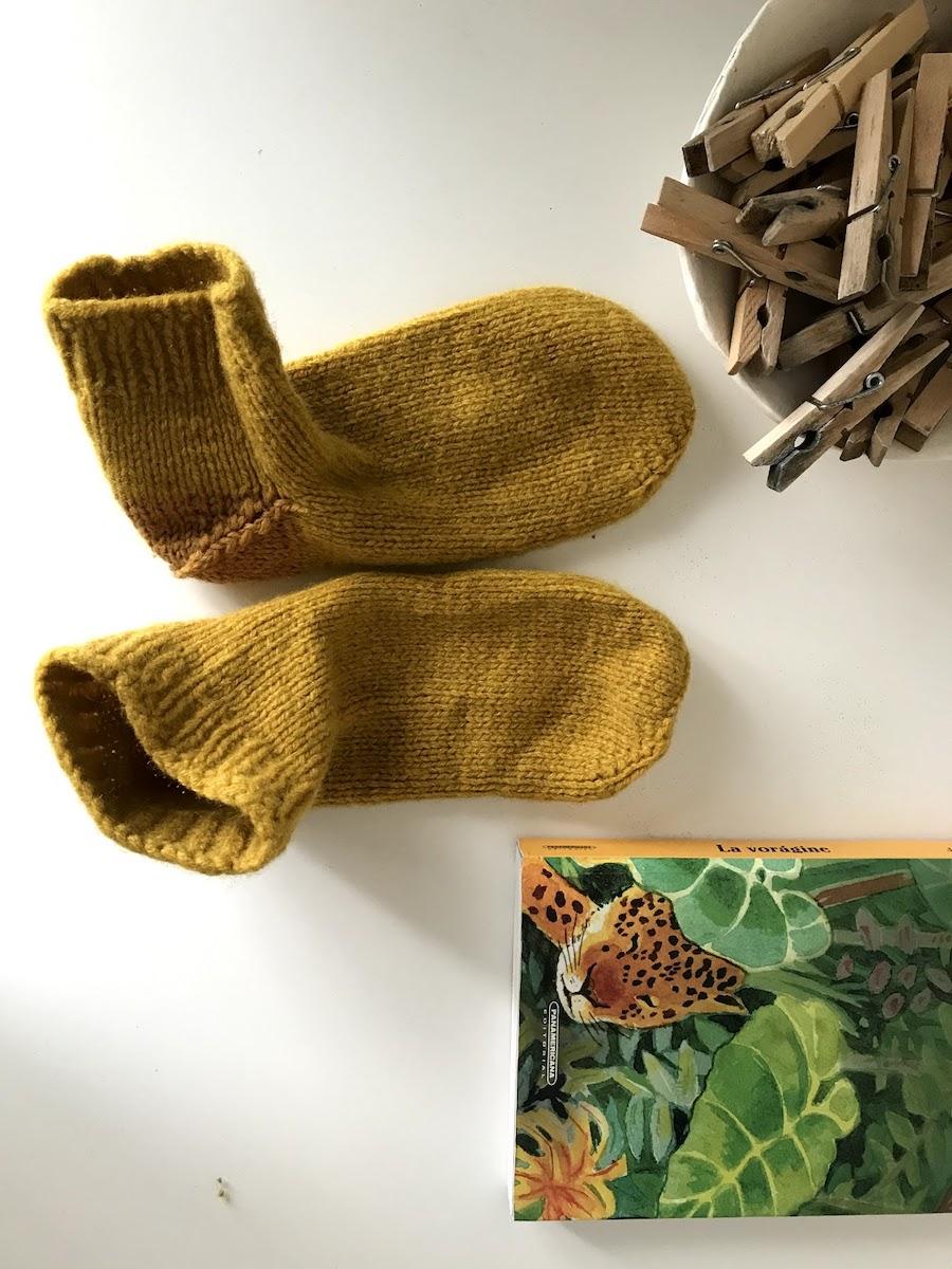 wool socks handknit