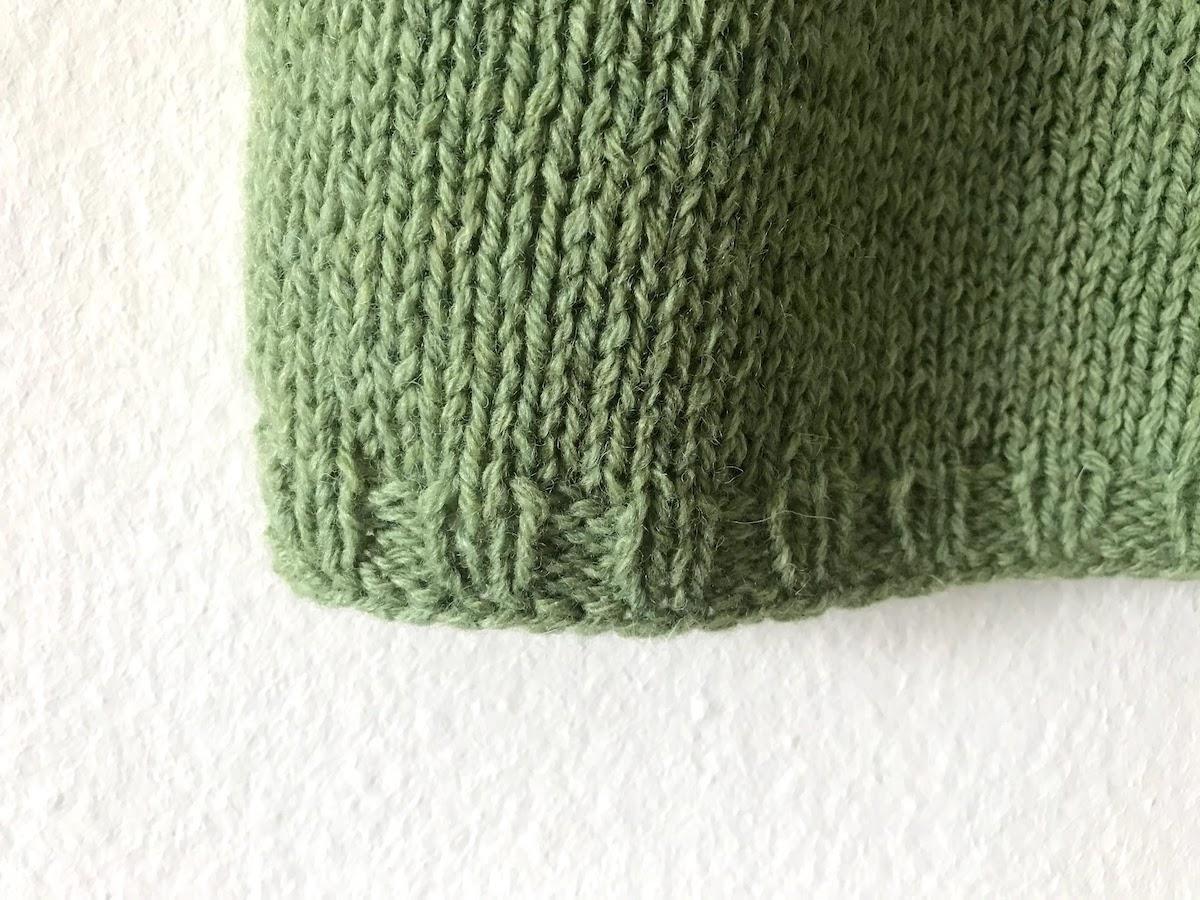wool sweater detail