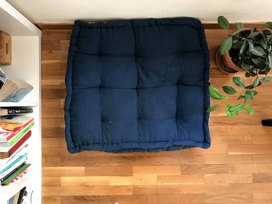 handtufted floor pillow